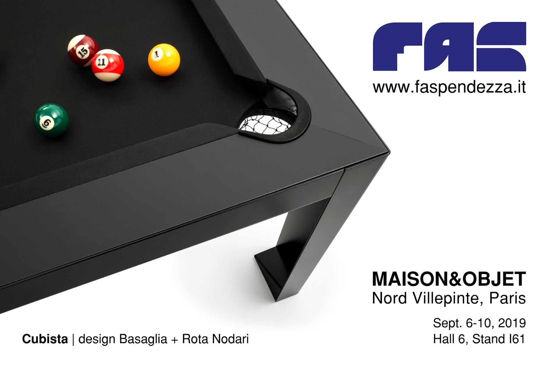 SAVE THE DATE: FAS Pendezza @ Maison&Objet Parigi